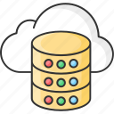 cloud, data, database, server, storage