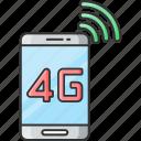 4g, internt, network, connection icon