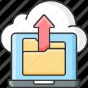 data, storage, cloud, uploading icon