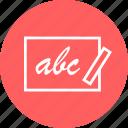 abc, board, chalk, learn icon