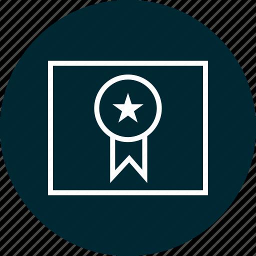 award, learn, ribbon icon