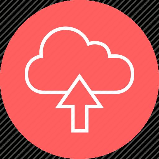 arrow, cloud, up icon