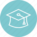 cap, graduation, learn icon