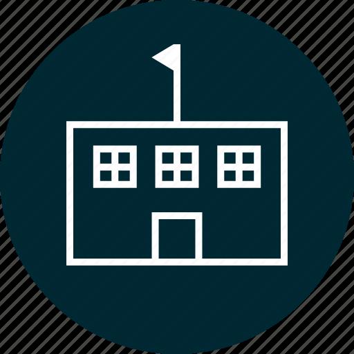 building, learn, school icon