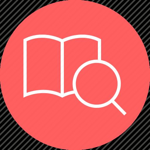 inside, learn, search icon