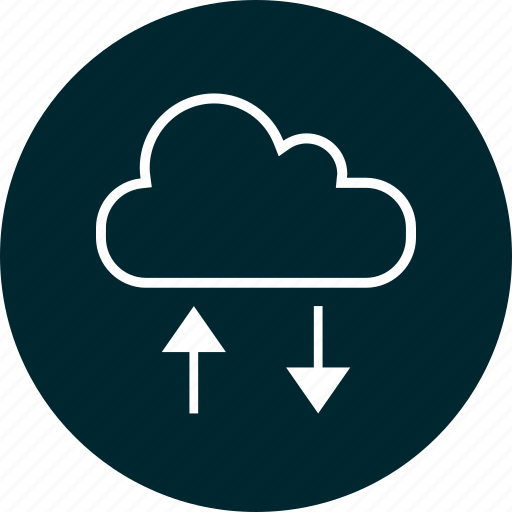 cloud, data, down, up, usage icon