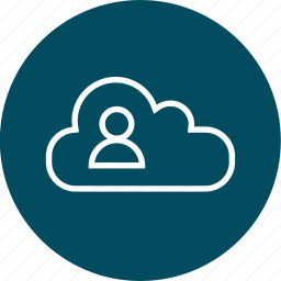 cloud, data, upload, user icon