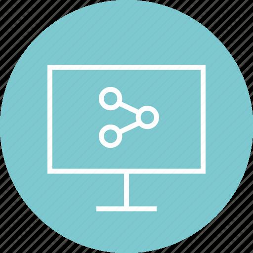 computer, monitor, screen, share icon