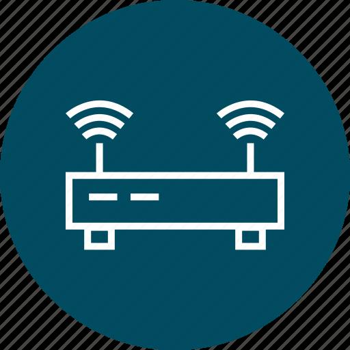 antenna, double, router, wifi icon