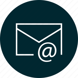 address, at, email, send icon