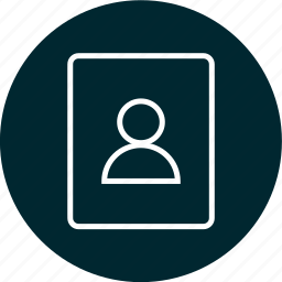 data, passport, profile, user icon