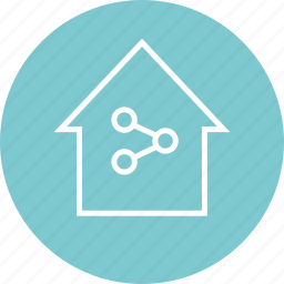 connection, home, internet, share icon