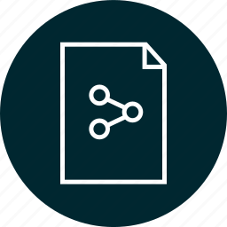 document, file, online, share icon