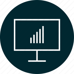 monitor, online, usage, web icon