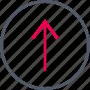 circle, communication, internet, online, up, upload icon