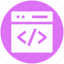 html, hypertext markup language, programming, website coding, website programming icon