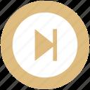 ahead, forward, media, multimedia, next icon