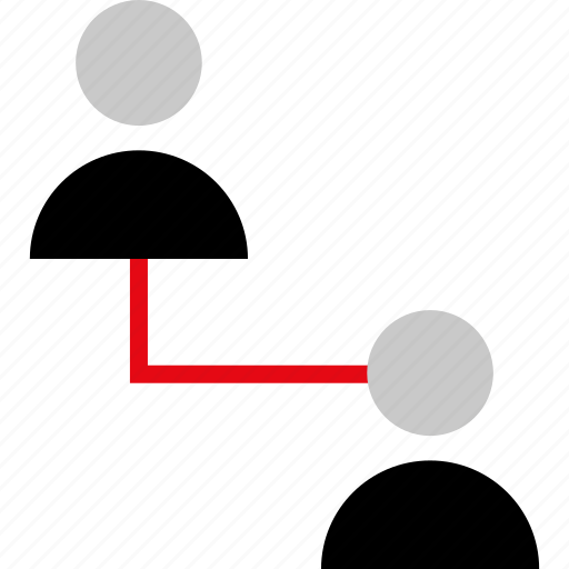 connect, connection, two, users icon