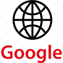 globe, google, internet icon