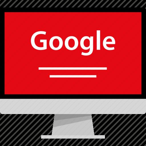 google, lines, mac, pc icon