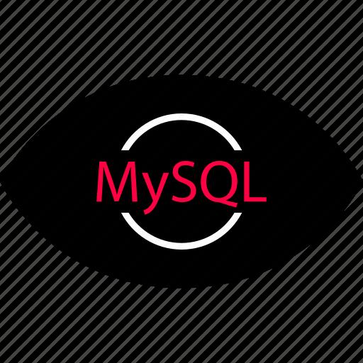 development, eye, mysql icon