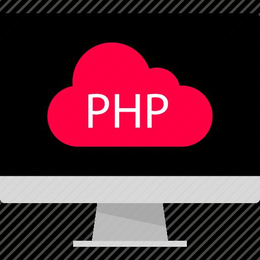 cloud, development, php, web icon