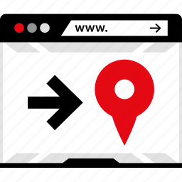 gps, internet, locate, location, online, pin, web icon