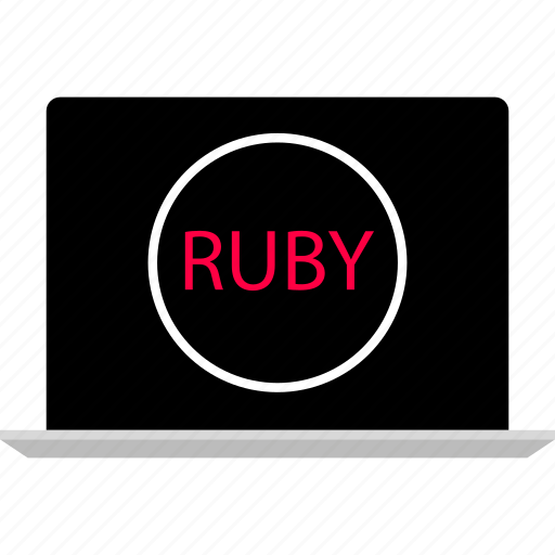 code, laptop, ruby icon