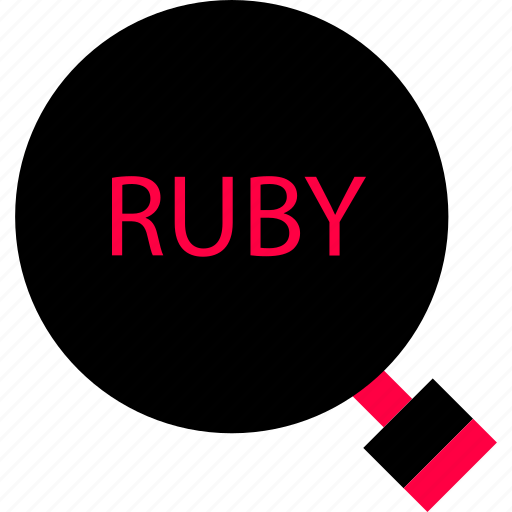 development, find, ruby, search icon