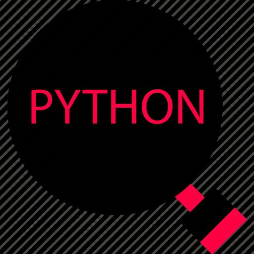 code, python, search icon