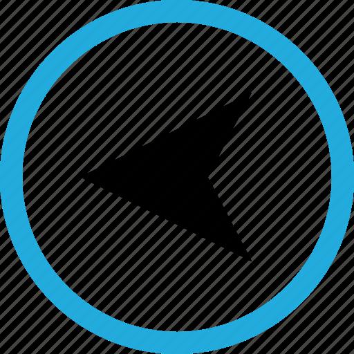 arrow, gps, left icon