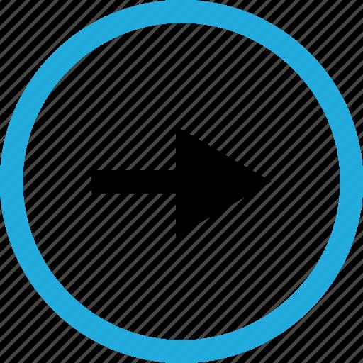 arrow, point, right icon