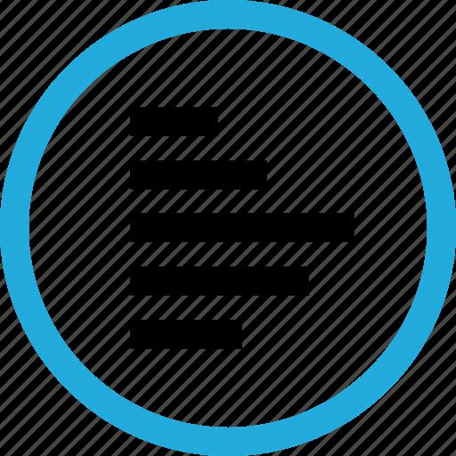 arrow, bars, graph icon