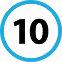 count, number, ten icon