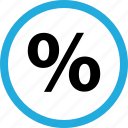 percent, percentage, rate icon