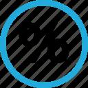 percent, percentage, rate