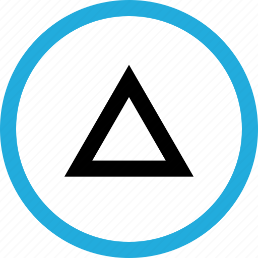 pointing, triangle, up icon