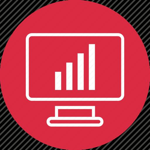 bars, chart, computer, data icon