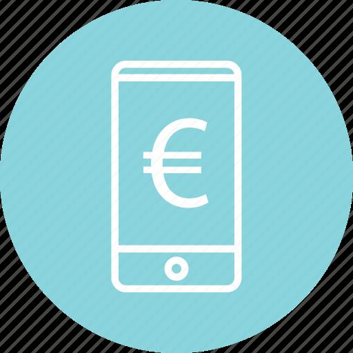 cell, euro, mobile, phone icon
