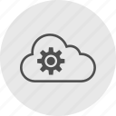 cloud, data, gear, options icon