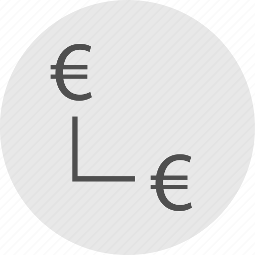 connect, data, euro, sign icon
