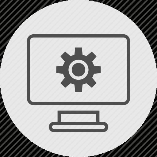 computer, data, screen icon