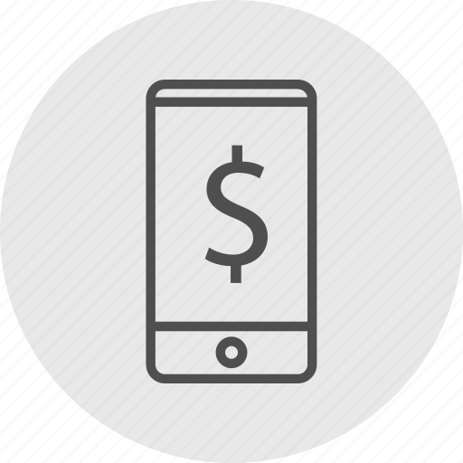 cell, dollar, mobile, sign icon