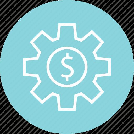 dollar, eorking, sign, work icon