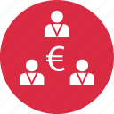 connect, euro, money icon