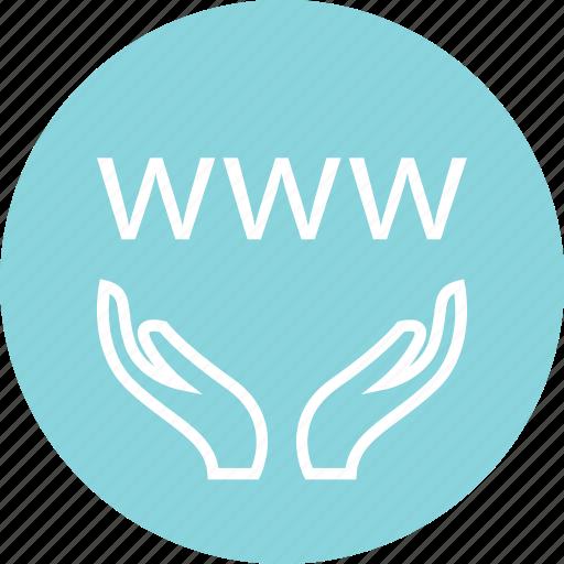 hands, internet, online icon