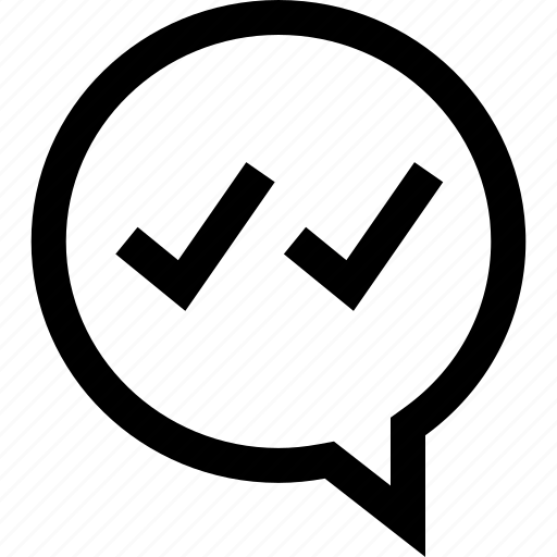 check, conversation, marks icon