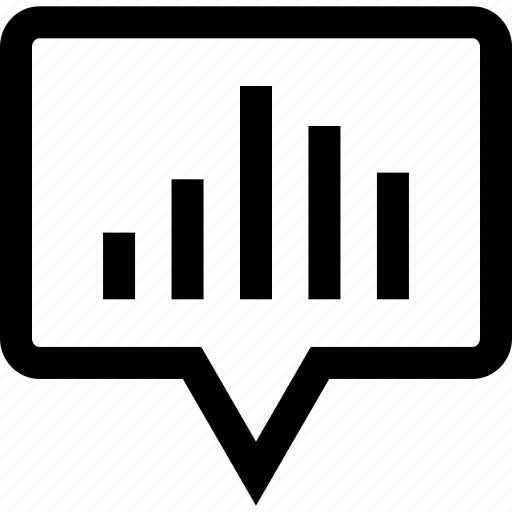 bars, chat, data, graphic icon