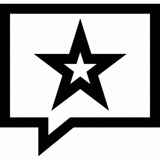 chat, star, talk icon