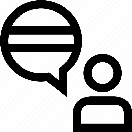 message, peson, user icon
